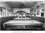 Melrose Hotel pool room interior, Renton, n.d.