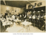 Eagle Cafe with customers, interior, Renton, March, 1927