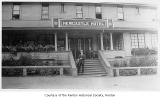 Newcastle Hotel exterior showing a man outside entrance, Newcastle, 1919