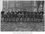 Renton High School football team outside the school, Renton, n.d.