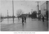 Flood at South Second Street and Burnett Avenue South, Renton, 1911