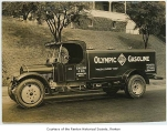 Olympic Gasoline truck, probably in Renton, n.d.