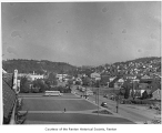 South Second Street, Monterrey Terrace and Renton Hill, view looking southeast, Renton, ca. 1955