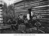 Workers at a logging camp cook house, Renton, 1910