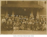Newcastle and Coal Creek Combined School students outside school, Newcastle, ca. 1918