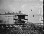 Houseboat on Rainier Beach, Seattle, ca. 1894