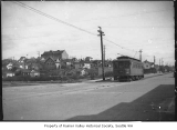 Genesee Dinky streetcar at Genesee Street and 38th Avenue, Seattle, ca. 1920