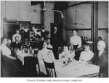 Columbia Hotel dining room interior, Columbia City, 1906