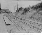 Rainier Avenue streetcar tracks in Columbia City, Seattle, July 6, 1915