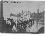 Boat docking at Lakewood Boat Landing, Lakewood, 1902