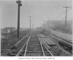 Rainier Avenue streetcar tracks at 56th Avenue, Seattle, September 18, 1915