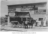 Columbia Laundry and W.H. Sewell, Plumber, Seattle, ca. 1911
