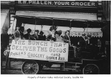 Phalen's Grocery delivery truck in parade for Rainier Valley Fiesta, Seattle, 1915