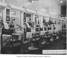 Rainier Valley Barber Shop interior, Seattle, 1947