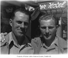 Seattle Rainiers players Hal Turpin and Bob Stagg, Anaheim, California, 1939