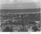 Aerial of east Columbia City from west, Seattle, ca. 1947