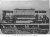 Seattle & Renton Railway Co. streetcar #201 at car barns, Columbia City, 1896