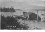 Streetcar and buildings at Rainier Beach Station, Seattle, 1915