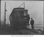 Seattle & Renton Railway Co. streetcar near Lake Washington, Rainier Beach, 1905
