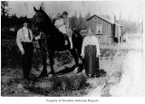 Carlson family & horse in Richmond Highlands, ca. 1925