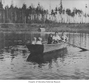 Butzke family in a rowboat on Echo Lake, ca. 1913