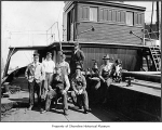 Standard Oil tanker Contra Costa crew on deck, Richmond Beach, n.d.