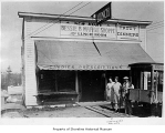 Bessie B Waffle Shoppe and Lunch Room, exterior, with people outside entrance, Richmond Highlands,...