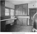 Drake family house, interior, kitchen, Lake Forest Park, 1916