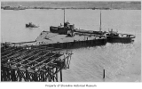 Standard Oil dock and tanker Contra Costa, Richmond Beach, 1920