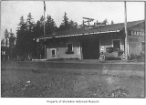 Roy Haines Garage and Interurban Station, exterior view from the north, Richmond Highlands, before...