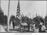 Lake Forest Park School flag-raising ceremony, Lake Forest Park, May, 1916