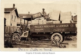 Walloch Hardware & Lumber Company truck loaded, with Oscar Dalby sitting on load, Richmond...
