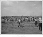 Clearing a field at Minidoka, ca. 1943