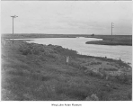 Irrigation canal on south border of Minidoka camp, June 1943