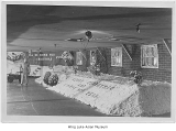 Mess hall decorated for Christmas, Minidoka, ca. 1943