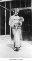 May Woo holding bouquet, Seattle, May 1928