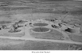 Aerial of Minidoka sewage treatment plant, ca. 1943