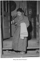Woman going to bath facilities, Minidoka, 1944