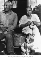 William and Ellen Guss, knitting, Auburn, ca. 1930