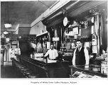Pastime Tavern, interior, with Frank Koljer and Walt Nelson behind the bar, Auburn, ca. 1940