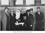 Northern Pacific Railway's Santa Claus train personnel, East Auburn, 1954