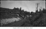 Pacific Coast Railroad crossing over Northern Pacific Railway tracks at Henrys, 1951