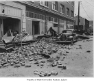 Earthquake scene, Auburn, April 13, 1949