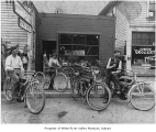 Crescent Bicycle Shop, exterior,  Auburn, ca. 1914
