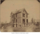O'Brien home under construction, O'Brien, 1889