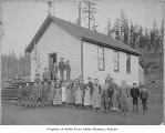 Springbrook School students outside school, Orillia, ca. 1895