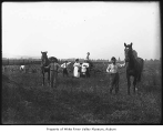 Japanese family with horses in Kent, ca. 1915