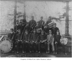 Kent Military Band, probably in Kent, 1904
