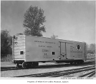 Northern Pacific Railway refrigerator car NPMX 100 in Renton, October 24, 1954