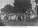 St. Paul's Episcopal Mission with Sunday school students on the lawn, Kent, 1926
